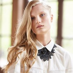 The BALLAD necklace brings a touch of dark romance to your evening style | Anne Fontaine