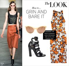 How to Wear...Grin and Bare It: Your #ShopBAZAAR guide to pulling off the season's chicest cut-out and cropped styles.