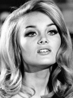 """Barbara Bouchet 1960s...hair and lashes like this never go """"out of style""""!"""