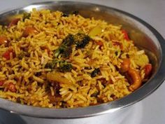 58 Ideas Recipes Rice Grains For 2019 Vegetarian Rice Recipes, Veggie Recipes, Indian Food Recipes, Asian Recipes, Healthy Recipes, Batch Cooking, Cooking Recipes, Vegetable Rice, Warm Food