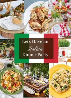 An Italian Dinner Party theme will create a festive night using traditional Italian decor and healthy Italian recipes. Italian Dinner Party Decorations This Vic Italian Dinner Menu, Italian Christmas Dinner, Italian Lunch, Italian Dinner Parties, Italian Themed Parties, Christmas Dinner Themes, Italian Night, Vegetarian Italian, Italian Appetizers