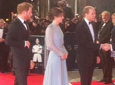 Duchess Kate on Twitter:  World Premiere of Spectre, October 26, 2015-Prince Harry and the Duke and Duchess of Cambridge