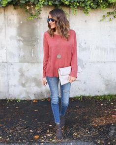 Sweet Salutation Sweater - Rust