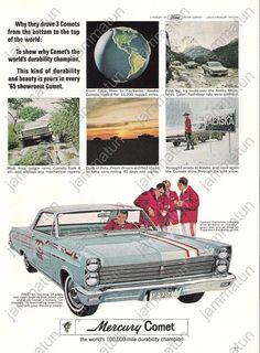 1965 MERCURY COMET VILLAGER STATION WAGON AD POSTCARD