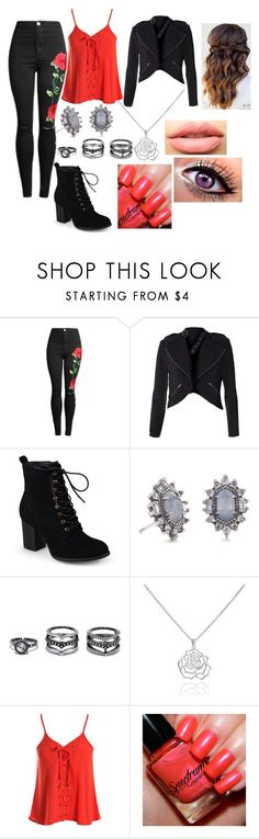 """Untitled #742"" by sophie-swan ❤ liked on Polyvore featuring Journee Collection, Kendra Scott, LULUS, Manja, Sans Souci and LASplash"