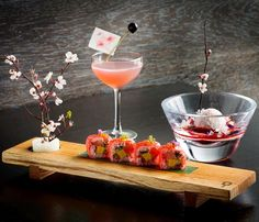 #aqualondon At the beginning of every #spring the famous cherry blossoms of #Japan bloom and ignite an explosion of colour across the country. It's a stunning display that marks the transition from a cold winter to an exciting and energising spring.  Our #aquakyoto Head chef Paul and Bars manager Nico have created a new delicate and delightful menu and cocktail. This iconic flower is the centrepiece of a selection of dishes celebrating the simplistic beauty of the 'Sakura' #CherryBlossom.