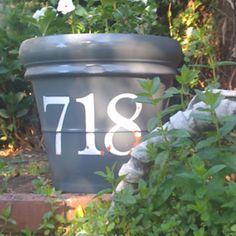 Address on pot -  CRICUT