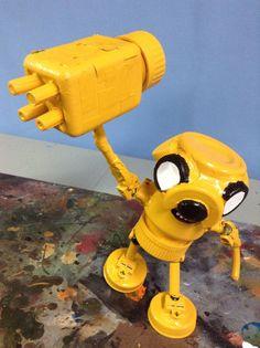 assemblage robot jake shorty by Valerobots on Etsy