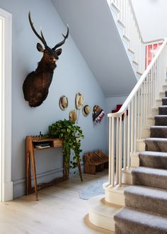 see those little chairs almost hidden behind the stairs - I think we should make a couple of them