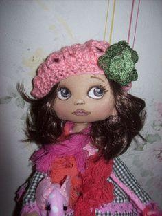 Gina Textile Doll Handmade Doll Art Doll Cloth por TrixiCreation: