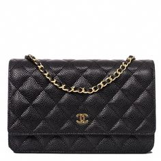 a0099e5ef7441 Chanel Black Classic Quilted Caviar Wallet On Chain (WOC)  Chanelhandbags