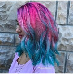 Frisuren Ombre Haare und lila Ombre # How Safe Laser Hair Removal Works The word laser is an acronym Blue And Pink Hair, Pink Ombre Hair, Brown Ombre Hair, Ombre Hair Color, Cool Hair Color, Pink Blue, Purple Ombre, Aqua Hair, Violet Hair