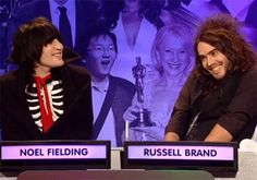 the CUTEST gif ever. The Goth Detectives: Russell Brand  Noel Fielding on My Big Fat Quiz Show