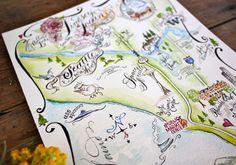 Seattle, WA Watercolored Wedding Map | Flickr - Photo Sharing!
