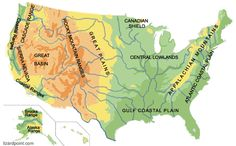 Test your geography knowledge: USA: geophysical regions quiz Nevada, Alaska, Map Quiz, Geography Quiz, Us Map, Mountain Range, Rocky Mountains, Quizzes, Social Studies