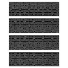 Weather Guard™ Petals Stair Treads (Set of Carpet Treads, Carpet Stairs, Water Dam, Mould Design, Stair Treads, Evergreen, Weather, Charcoal, Canada