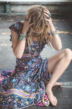 Spell Designs Folk Town Frill Dress