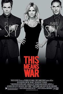 This Means War is a 2012 romantic comedy spy film directed by McG. The film stars Reese Witherspoon, Chris Pine, and Tom Hardy as victims of a love triangle in which two CIA agents who are best friends discover that they are dating the same woman.