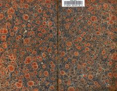 "1831 ""Family Encyclopædia."" Example of shell patterned endpapers."