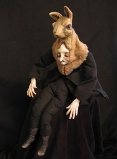 The Hare by Swan Bones aka Kelly Louise Judd Magritte, History Class, Art History, Dreams And Nightmares, Nick Cave, Crazy Hair, Occult, Surrealism, Art Dolls