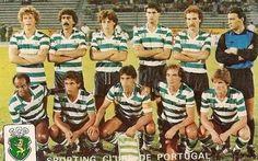 Sporting 1985-Eldon,Zézinho,Mourato,Venâncio,Virgilio,Damas. Lito,Mário Jorge,Manuel Fernandes,Jaime Pacheco,Sousa.