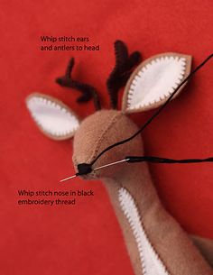 felt animals for kids – Page 2 – felt Felt Animals, Animals For Kids, Sewing Crafts, Sewing Projects, Sewing Ideas, Diy Projects, Stitch Ears, Theme Noel, Felt Christmas Ornaments