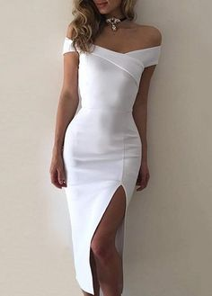 Side slit dress