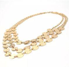 Brand NEW Women Gold Plated Lightweight Bib Chain Necklace | eBay