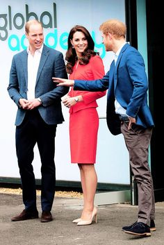 The Duke and Duchess of Cambridge and Prince Harry attend the official opening of The Global Academy in support of Heads Together at The Global Academy on April 20, 2017 in Hayes, England.