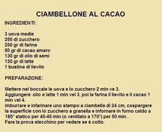 ciambellone al cacao