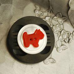 Good Dog Vintage Button Brooch by calloohcallay, via Flickr