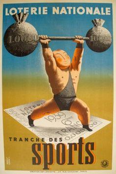 affiche ancienne sport