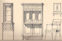 Biedermeier Furniture Sketches