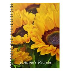 Shop Beautiful Personalized Yellow Orange Sunflower Notebook created by floralsunshine. Personalize it with photos & text or purchase as is! Orange Sunflowers, Mandala Throw, Sunflower Gifts, Personalized Notebook, Lined Page, Custom Notebooks, Floral Style, Office Gifts, Floral Flowers