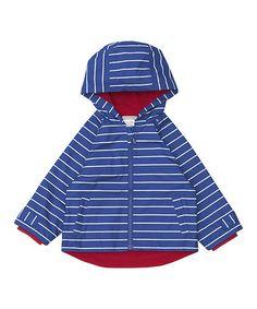 Look what I found on #zulily! Navy Stripe Summer Rain Jacket - Infant, Toddler & Boys #zulilyfinds