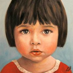 Little girl portrait / retrato pintado de una niña