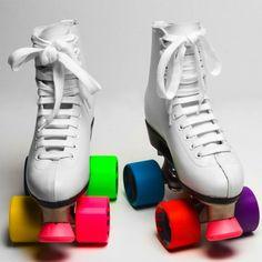 Rainbow Rollerskates