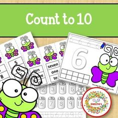 Count 1 to 10 - How Many Dots on the Butterfly Counting Activity Package Counting Activities, First Grade Activities, Number Words Worksheets, Kindergarten Blogs, School Reviews, Learn To Count, Teacher Organization, Elementary Math, Learning Resources