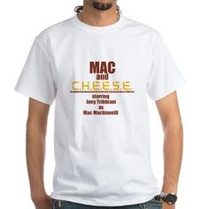 "Find great #Friends (TVShow) fan gear at www.narffangear.com. More like this Mac and C.H.E.E.S.E. T-Shirt Mac and C.H.E.E.S.E. was a short lived TV show that Joey starred in. It was about a detective and his robot partner. Season 6, Episode 20 ""The One with Mac and C.H.E.E.S.E.""  $19.19"