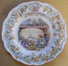 "Royal Doulton Brambly Hedge ""CRABAPPLE COTTAGE"" Jill Barklem Plate #Plate"