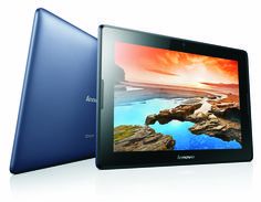 9 straight hours of continuous WiFi usage. Now available in midnight blue on the Lenovo A10 Tablet.