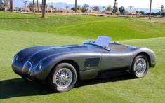 1953 Jaguar C-Type by Malcolm Sayer. Also called the Jaguar XK120-C. A total of 53 C-Types were built.