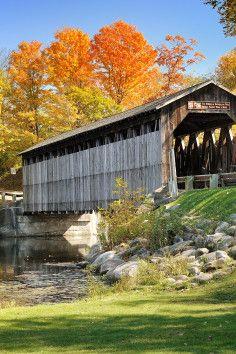 Fallasburg Covered Bridge Lowell, MI US historic & scenic covered bridge