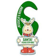 Personalised Wooden Reindeer Door Hanger  from Personalised Gifts Shop - ONLY £12.99