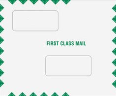 Double Window Tax Return Filing Envelope - Peal and Seal.  • Style: Landscape • Envelope Size: 9 1/2 x 11 1/2 • Top Window Size: 2 x 4 1/2 • Top Window From Left Side: 1 1/4 • Top Window From Bottom: 6 7/16 • Bottom Window Size: 2 x 4 1/2 • Bottom Window From Left Side: 4 1/2 • Bottom Window From Bottom: 1 15/16