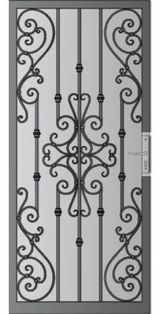 Screen Door Ideas Decor Wrought Iron 52 Ideas For 2019 Iron Door Design, Security Screen Door, Iron Windows, Decorative Screen Doors, Wrought Iron Doors, Steel Doors, Metal Doors Design, Metal Door, Iron Security Doors