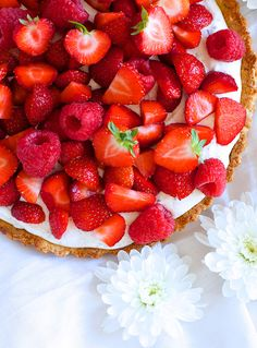 Sommertærte med jordbær