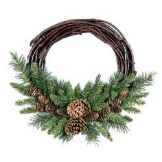 I pinned this Grapevine Wreath from the Winter Welcome event at Joss and Main!
