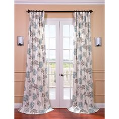 @Overstock.com - Allium Blue and Grey Printed Cotton Curtain Panel - This printed cotton curtain panel provides a casual feel to any window. Crafted of the finest 100-percent cotton, this window treatment is finished with a weighted hem and shade-enhancing lining.  http://www.overstock.com/Home-Garden/Allium-Blue-and-Grey-Printed-Cotton-Curtain-Panel/7950138/product.html?CID=214117 $85.99