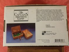 Vintage The Captain's Mistress Game | eBay